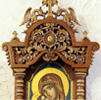 Wood-carved iconostasis